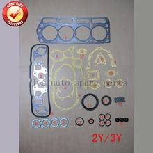 2Y 3Y Двигателя Полная прокладка комплект для Daihatsu Fourtrak/Дельта Toyota Cressida/Liteace/Hilux/Hiace/DYNA/Master 2.0L1.8L 50098600