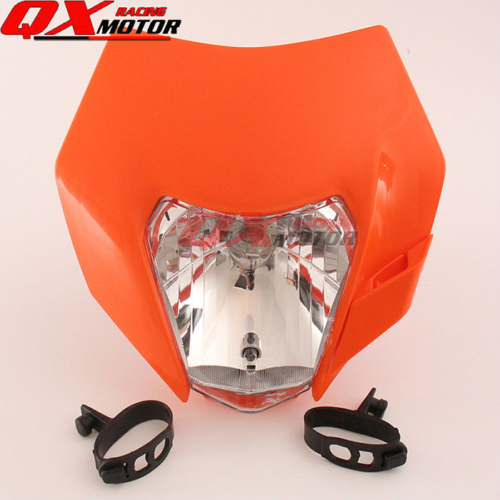 Dirt Bike Motocross Supermoto Motorcycle Universal Headlight 12V 35W for 14-16 KTM SX F EXC XCF SMR Headlamp 35 83 motorcycle throttle cable for 50cc 150cc dirt bike d030 042