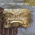 Retail 1 unids Antiguos Hechos A Mano de Oro Águila de Metal Cinturón de Hebilla de Vaquero Denim Retro Hebilla del Estilo Occidental Joyería El Envío Libre