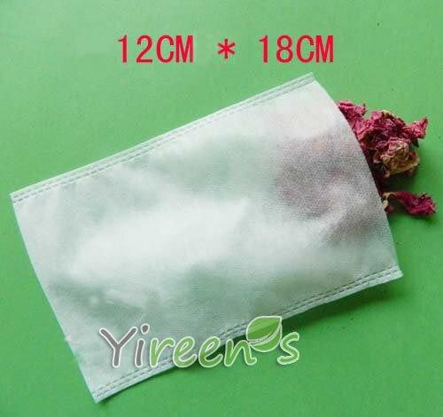 1000 шт. 120x180 мм Чай Фильтры нетканые Ткань пустой Чай сумки, заварены фильтр сумки, для растений, порошки, вкус кипения специи