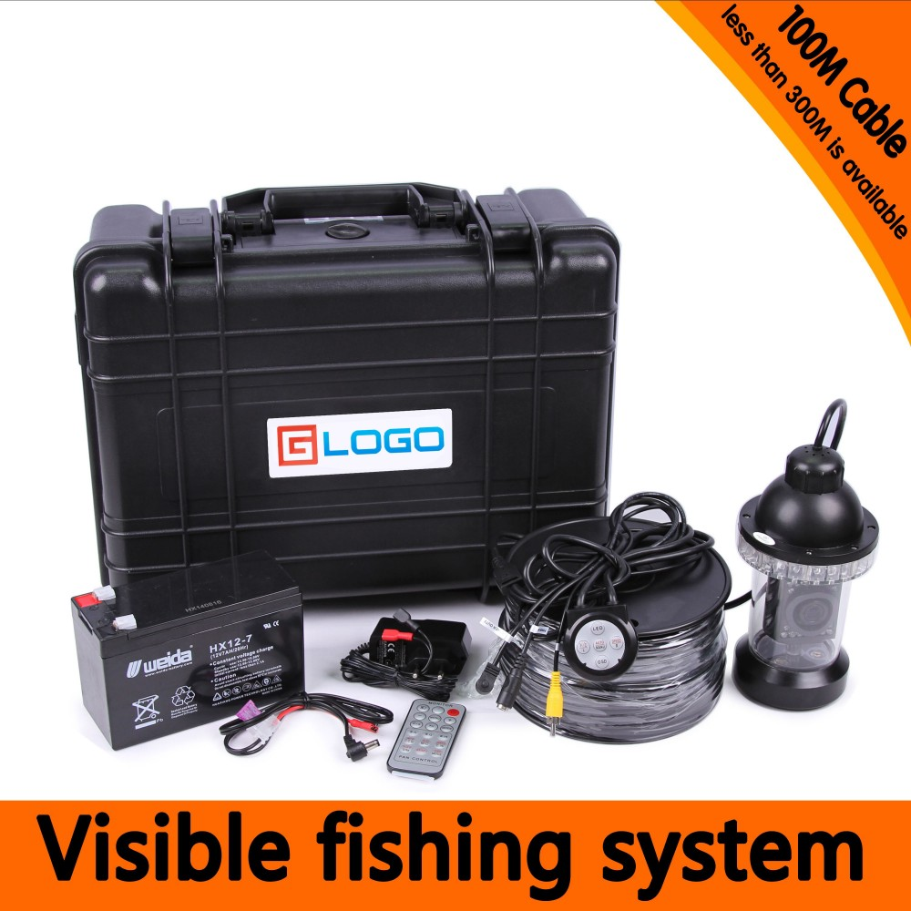 100Meters Depth Underwater Fishing Camera Kit with 360 Panning Rotative Camera & 7Inch TFT LCD Monitor & Hard Plastics Case 1 set 50m cable 360 degree rotative camera with 7inch tft lcd display and hd 1000 tvl line underwater fishing camera system