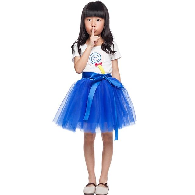 exclusive customization Tutu Skirts For Girls Skirt Kids Princess Tulle Skirts Lovely Ball Gown Pettiskirt Children Clothing