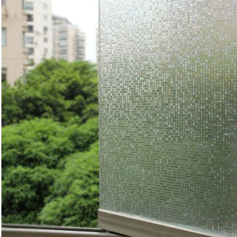 Cut Glass window film Mini Mosaic Tile Decorative Window Film for frosted, static window cling film Home Decoration ...