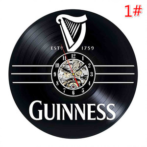 Image 2 - Home Living Whiskey Classic Wall Clock Fashion Decoration Art Clock Vinyl Record Wall Clocks