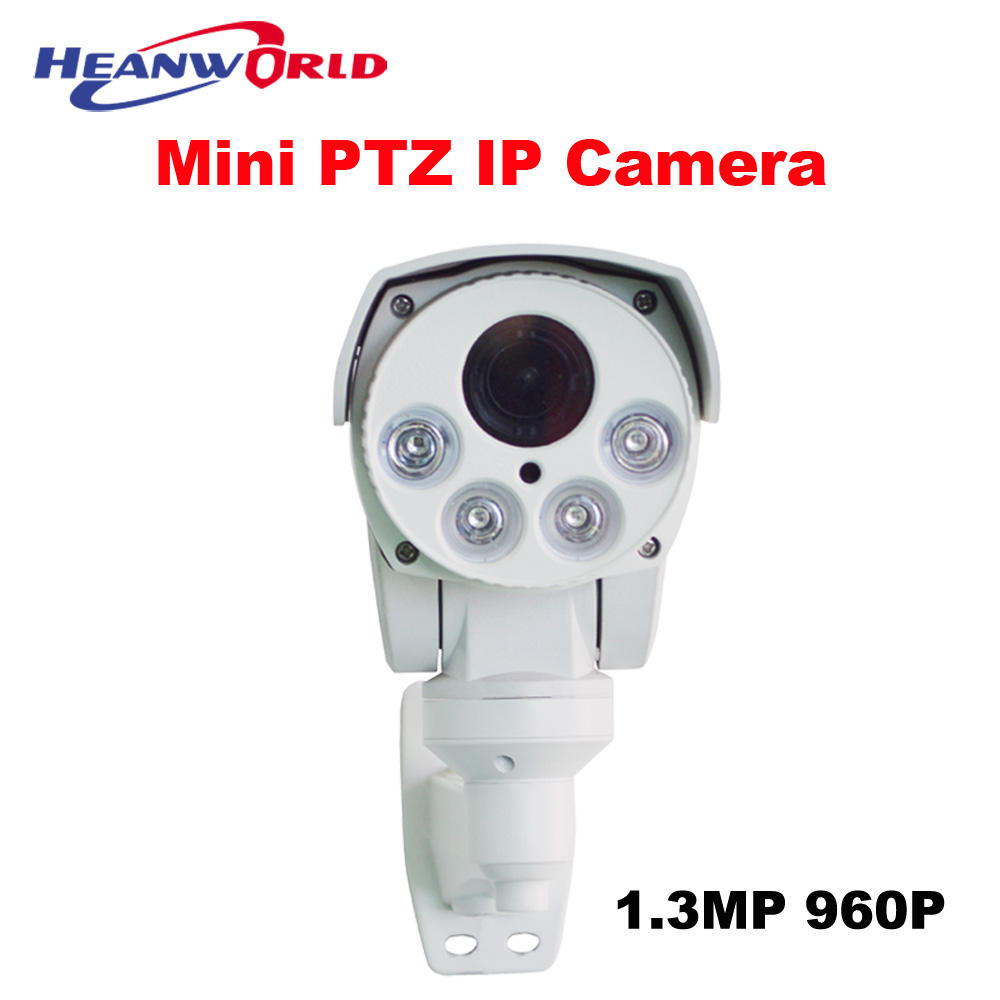 Mini CCTV IP PTZ Camera Waterproof HD 960P 1.3MP Zoom Pan Tilt Outdoor Security Camera Surveillance Far Night Vision Auto-focus 402 189 139mm gray white outdoor waterproof cctv camera housing aluminum abs casing for cctv security zoom box body camera