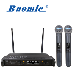 863-865Mhz China baomic brand BM-U752 UHF Karaoke wireless microphone dual channels Left 863.5MHz  Right 865MHz fixed frequency