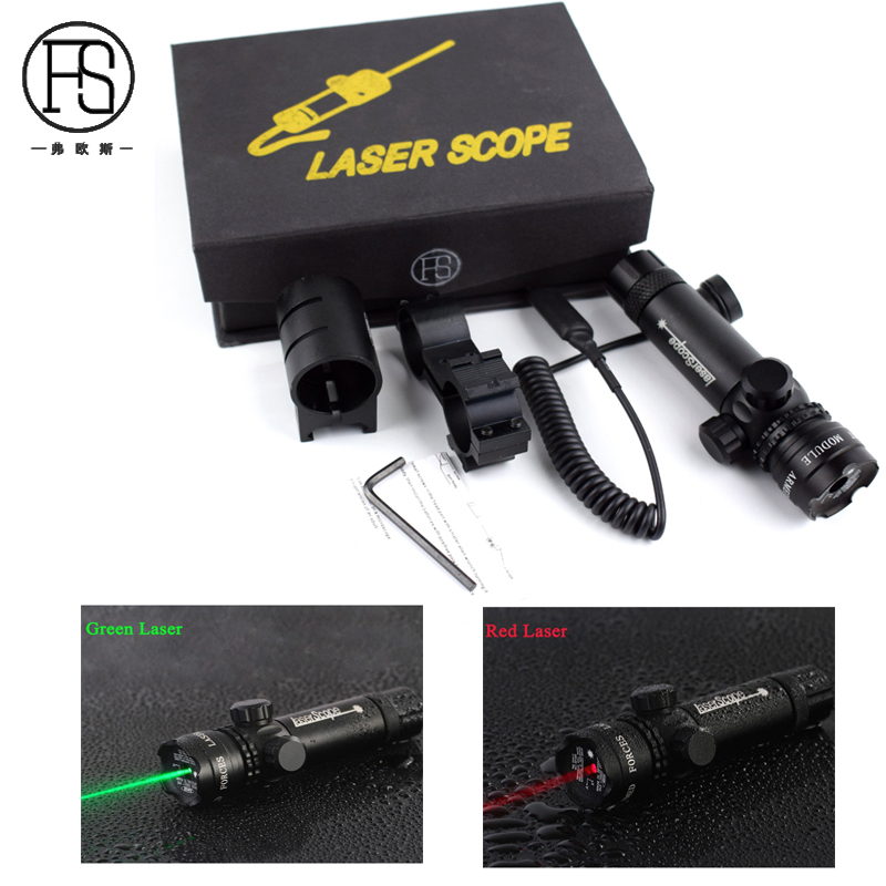 Good Quality Tactical Shooting Hunting Rifle Red Green Laser Sight Scope With Picatinny Mount For 20mm Rifle