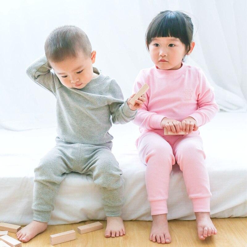 Carsinlon Uşaqlar Termal Alt paltarları Qatı Rənglər Pambıq - Uşaq geyimləri - Fotoqrafiya 3