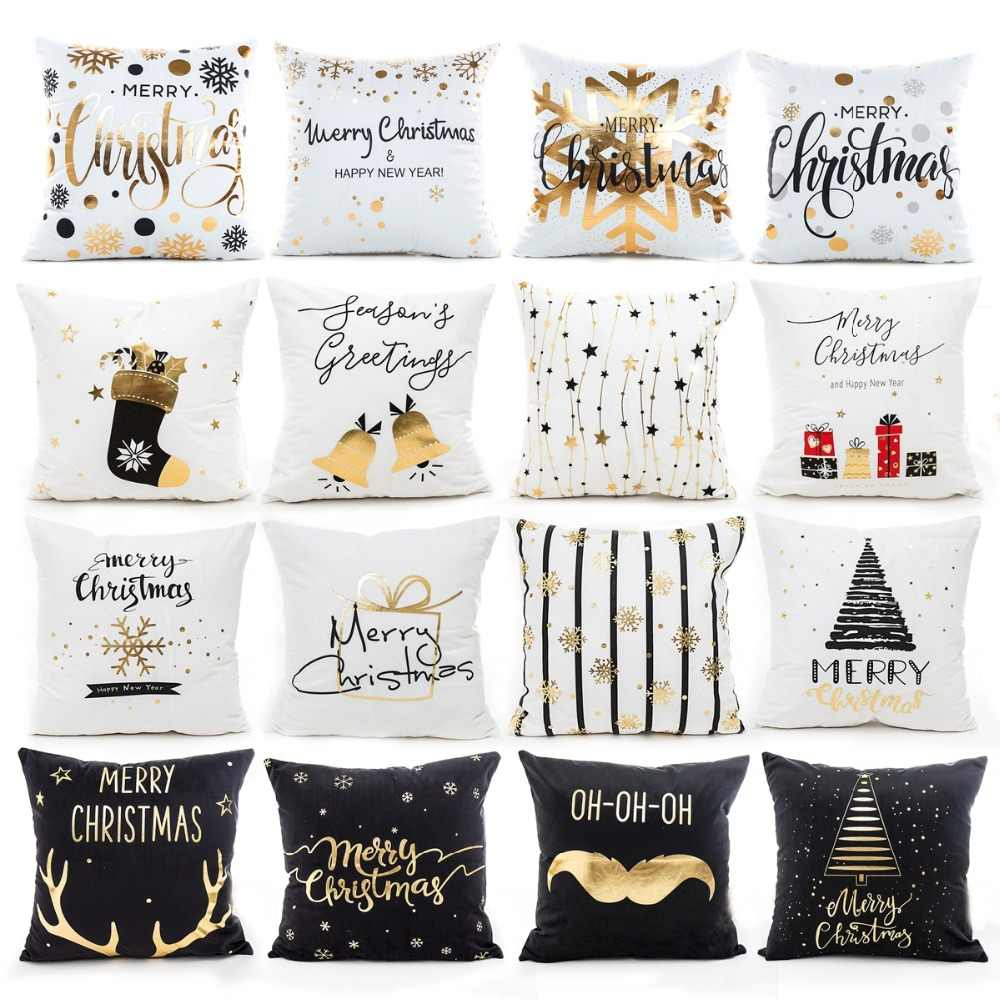 Christmas Pillow Cushion Covers case Merry Christmas Decoration For Home New Year Decorations Xmas Ornaments Chrismas Party 2019