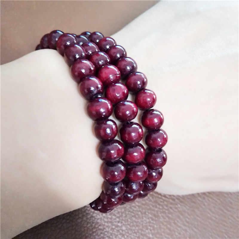 2018 hot braccialetto stile Etnico perline di legno braccialetto di stirata giro piccole perle per le donne e gli uomini dei monili colori del braccialetto a catena