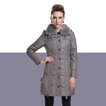 Fashion Women's Winter Jacket Luxury Fur Collar Hooded Casual Coats Plus Size Coat Cotton Wadded Jackets Female Long Parka C1115