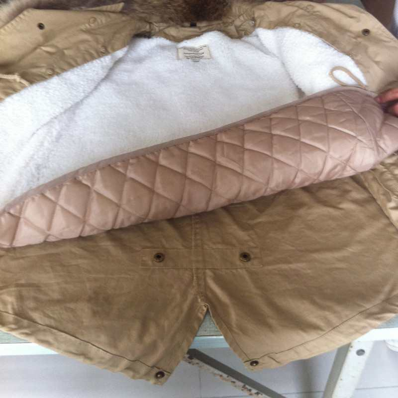 Raton Manteaux Vestes Style Femme Vert Armée Grand Outwear Coréen Mode Réel army Laveur Femmes Collier Qualité Coton Épais kaki Mince Green De Marque Fourrure En Noir 6H8A6qa