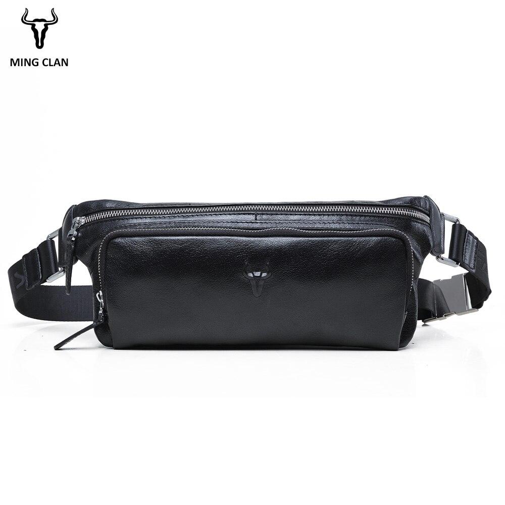 Mingclan, мужские дорожные сумки из натуральной коровьей кожи, сумки на пояс, портативная мужская сумка на пояс, мини сумка на пояс для телефона, ...