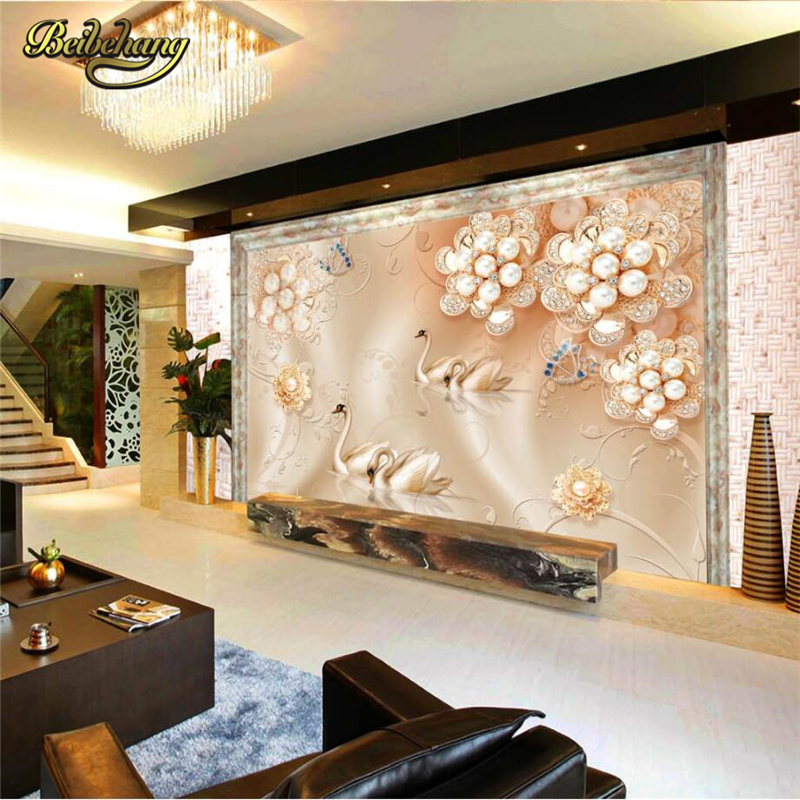 Beibehang Custom Foto Behang Europese 3D Muurschildering Woonkamer  Achtergrond Muur Panel Klassieke Interieur Decor Papier 3D