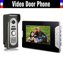 7 Inch Monitor Handfree Video Door Phone Doorbell Intercom Camera Kits 1 Camera 1 Monitor Night Vision Call and Intercom