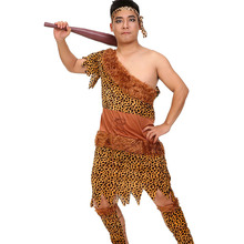 Cheap Adult Man Halloween Indian Costume Outfit Jungle Fever Warrior Suits Carnival Primitive Cosplay Idea For Boys