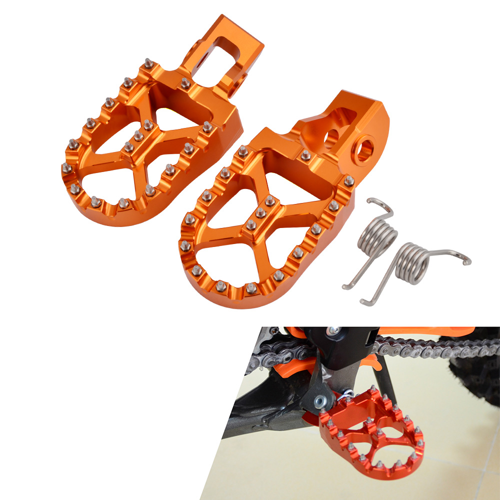 57mm Foot Pegs Apoios Dos Pés Para KTM SX EXC SXF XCW EXCF XC XCF 85 125 150 250 300 350 400 450 500 505 525 530 2016-2017 2018 2019