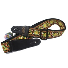 New embroidery acoustic guitar strap with national style, folk straps, bass straps free shipping
