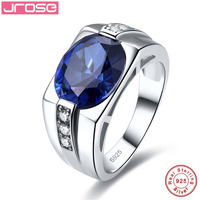 Jrose Luxury 5.6ct Wedding Engagement Ring For Men Genuine 925 Sterling Sliver Fine Jewelry Free Shipping