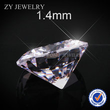 1000pcs 1.4mm Round Brilliant Cut White Cubic Zirconia Stone Loose Synthetic CZ Stones For Jewelry Making