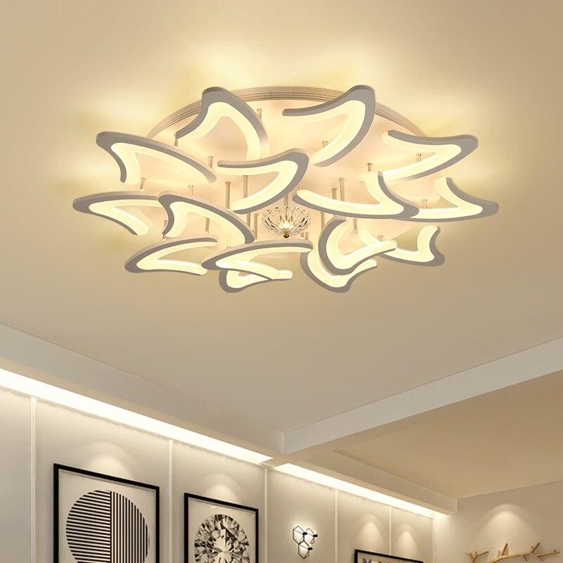 New modern led chandeliers for living room bedroom dining room acrylic iron body Indoor home chandelier lamp lighting fixtures цена
