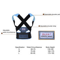 JORZILANO Unisex Adjustable Back Posture Corrector Brace Back Shoulder Support Belt Posture Correction Belt for Men Women