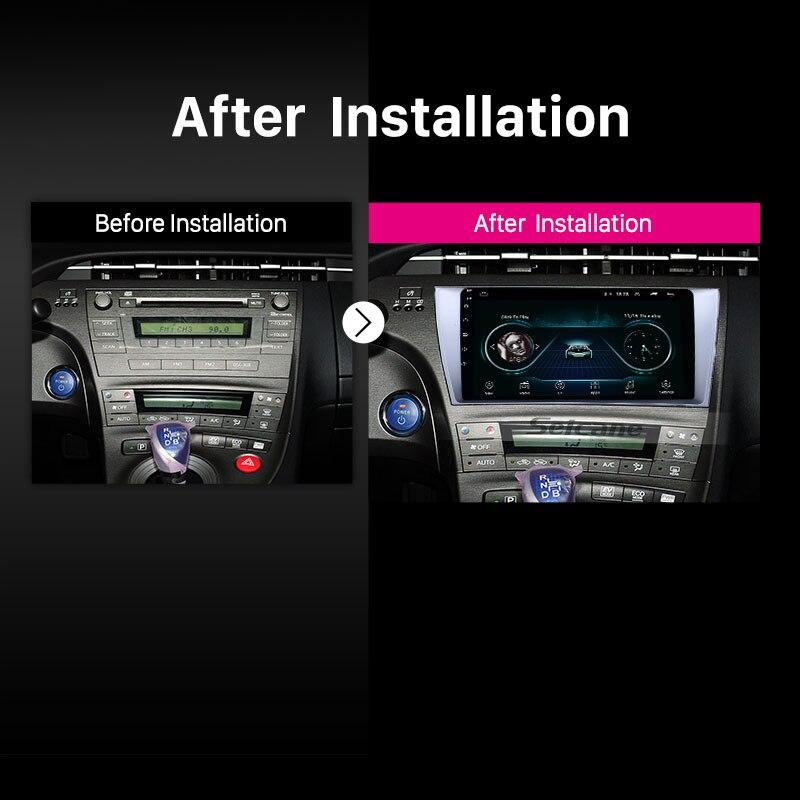 Seicane 9 zoll Android 8.1 2 Din Auto radio Multimedia Video Player GPS Für Toyota Prius 2009 2010 2011 2012 2013 links fahrer