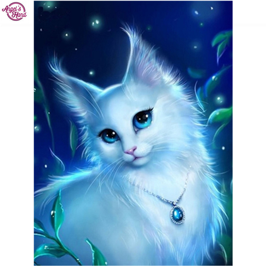 Diamond embroidered animal Painting wolf waterfall 5d Diy Full beads Mazayka Diamond Emb ...