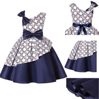 3 4 5 6 7 8Yrs Kids Dresses for Girl Princess Bow Knot Plaid Costume Birthday Party Wedding Dress Ball Gown Dresses for Clothing