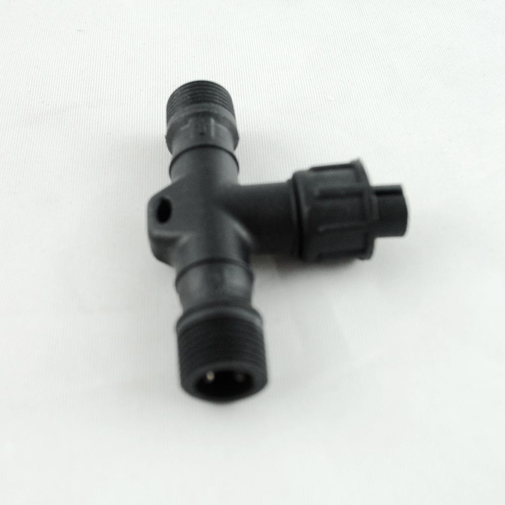 2 PIN/4PIN T connector/Y connector IP67 Waterproof Connector for LED Deck Light step stairs Lamp 2*male and 1* female connectors