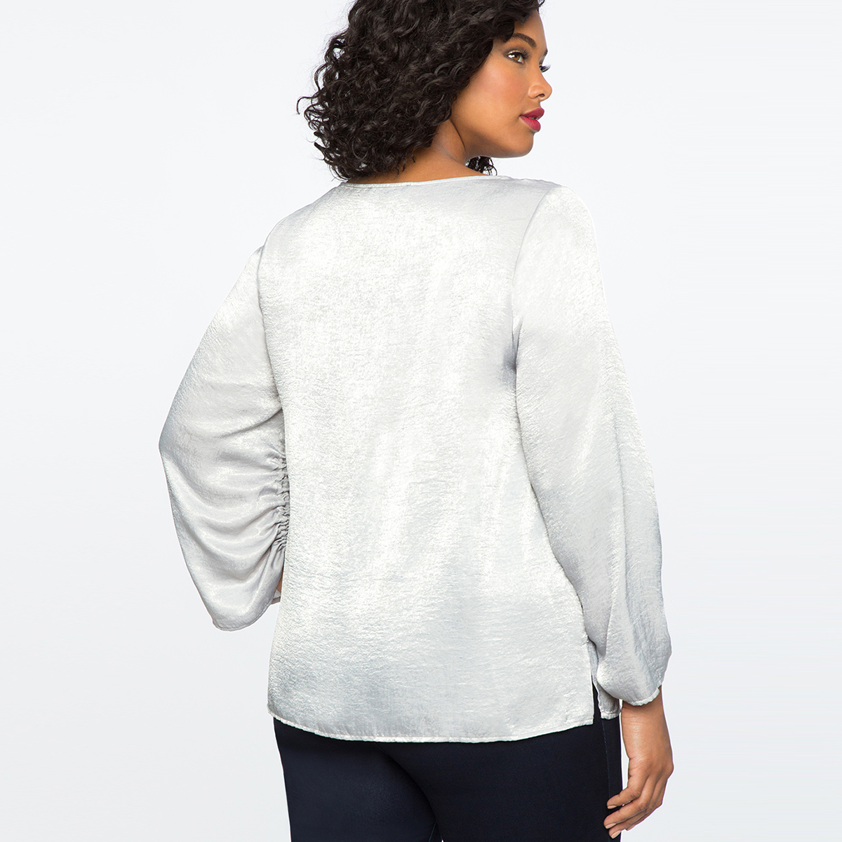 MCO 2018 Spring Lace Up Long Sleeves Plus Size Satin Women's Top Simple Office Ladies White Blouse Basic Big Women Tops 5xl 6xl 3