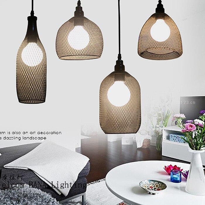ФОТО Industrial Vintage Iron Net Edison Loft LED Pendant Lamp Cafe Store Restaurant Lighting