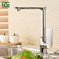 FLG Newly Arrived Modern Fashion Style Brass Kitchen Faucet Optional Chrome 360 Degree Hot And Cold