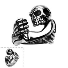 2016 New Unisex Women's Skull Fashion Rings US Size 8/9/10 Stainless Steel Ring for Women anello uomo Chic Gift