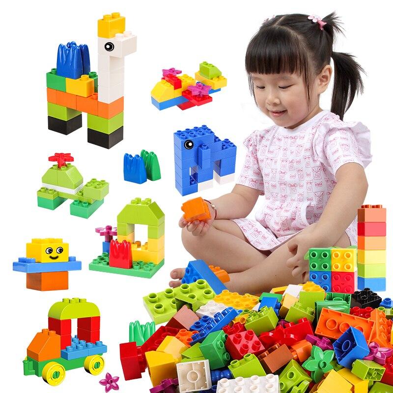 Große Größe DIY Stadt Bausteine Kreative Ziegel Auto Modell Tier Pädagogisches Spielzeug Kompatibel Mit Große Partikel Blöcke