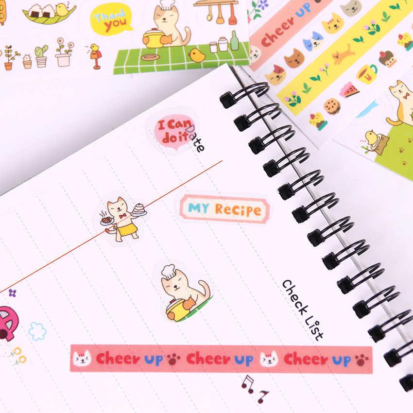 6 PCS/pack Creative Transparent PVC Stickers Cute Cat Album Decoration Stickers Children Diy Toy Diary Decoration Stationery