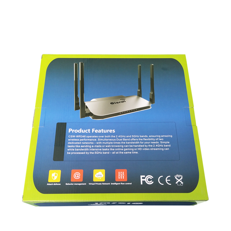 Image 5 - MT7621 gigabit 2.4g 5g routers 512MB RAM usb access point wifi 1200mbps 1 WAN 4 LAN Ports-in Wireless Routers from Computer & Office