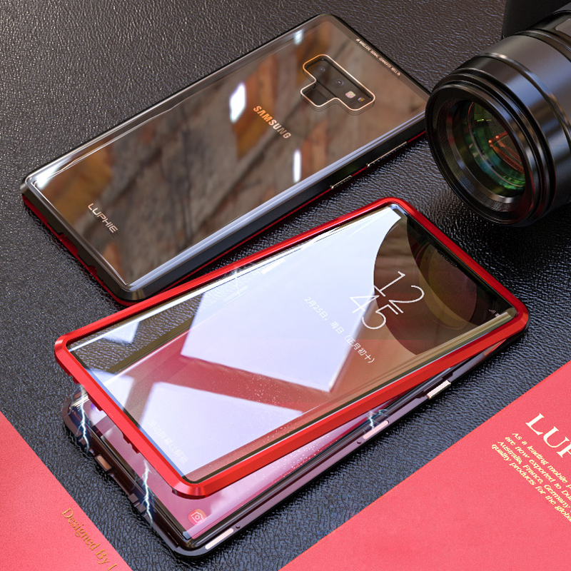 HTB1PhU2XNrvK1RjSszeq6yObFXak 360 Full Magnetic Case For Samsung Galaxy S8 Plus S8Plus S9 Note 9 8 Note9 Note8 Metal Bumper Glass Cover For Samsung S8 Case On
