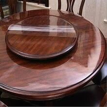 Diâmetro 40-140cm transparente toalha de mesa redonda de vidro macio impermeável nova toalha de mesa do agregado familiar do pvc toalha de mesa do hotel