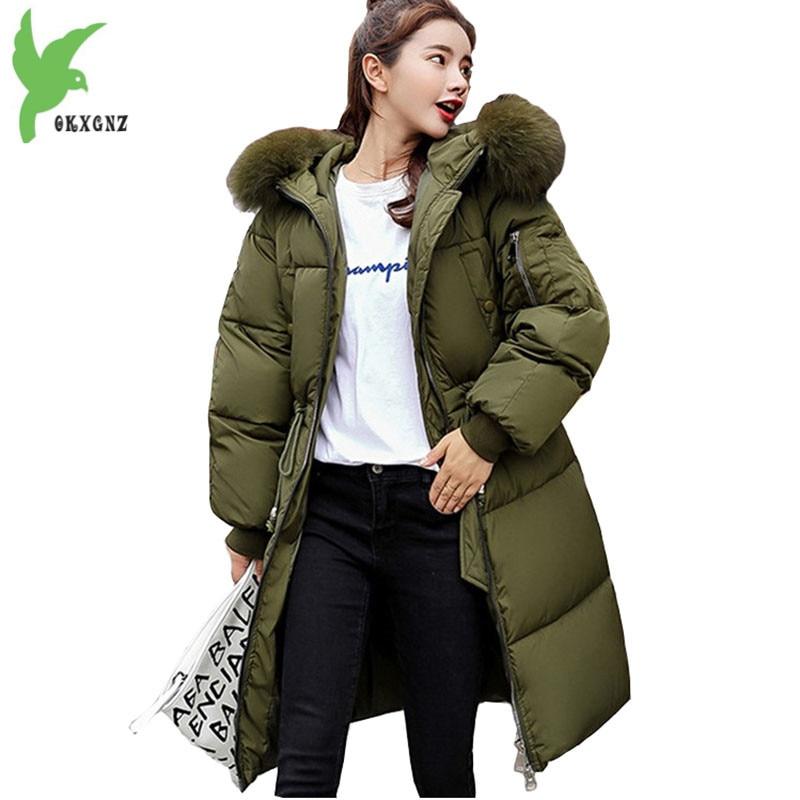 13eabc95bc14d Winter Parkas Womens 2018 New Cotton jacket Student Hoodies Top Plus size  Thick Warm Female Long Down cotton Coats Hot sale 1970