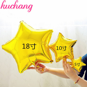 Image 5 - סיטונאי 10 יח\חבילה 5 אינץ כוכב בלון ססגוני חמוד כוכב רדיד בלונים שמח יום הולדת קישוט חתונת ציוד
