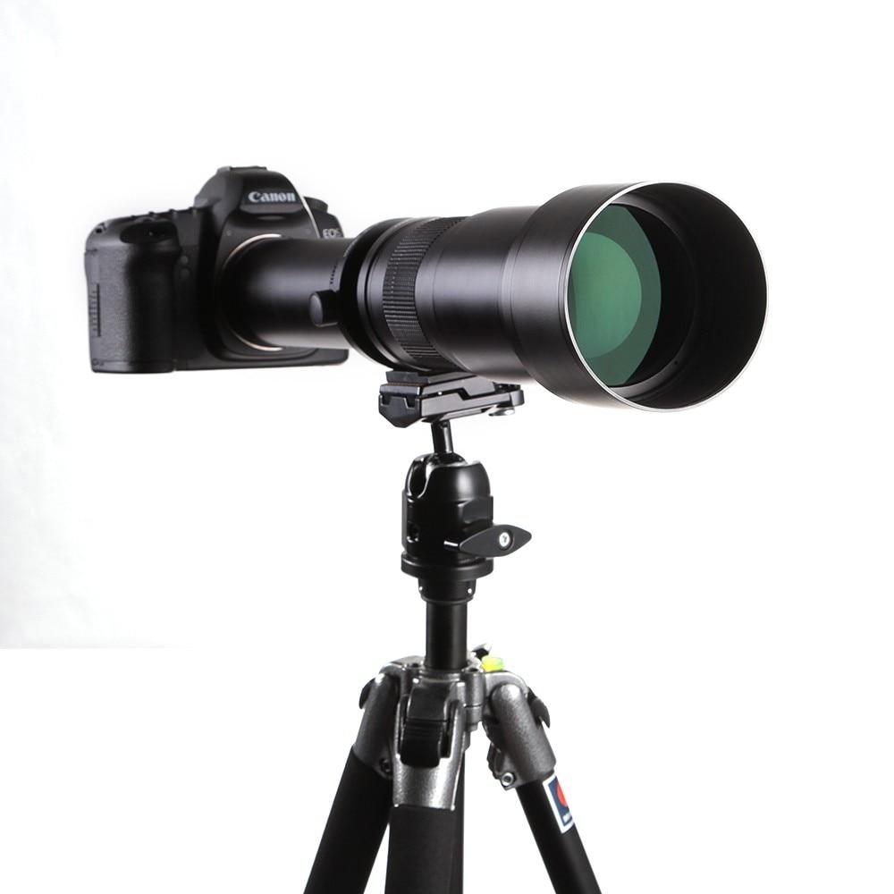LLightdow 650-1300mm עדשת המצלמה F8.0-16 אולטרה טלה עדשת זום עם טי-הר עבור מצלמת DSLR