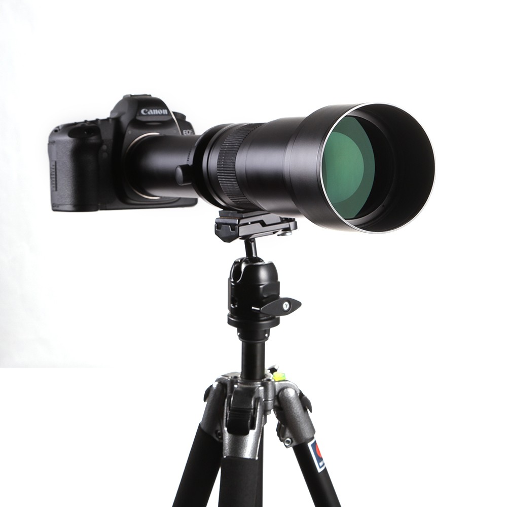 Lightdow 650-1300mm Camera Lens F8.0-16 Ultra Telephoto Zoom Lens with T-Mount for DSLR Camera 11