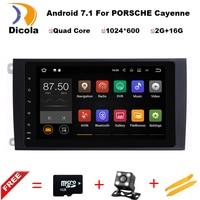 Android 7 11 Car GPS Navigation Car DVD Player Headunit For Porsche Cayenne 2003 2010 Support