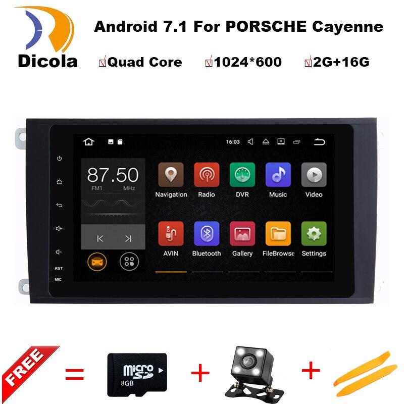 9 1024X600 Quad Core 2GB RAM 16GB ROM Android 7 1 1 Car DVD Player Radio