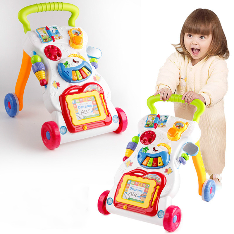 Baby Walker Baby Stroller Multifunction Baby with Music Can Speed Walker Baby Rattles Toys