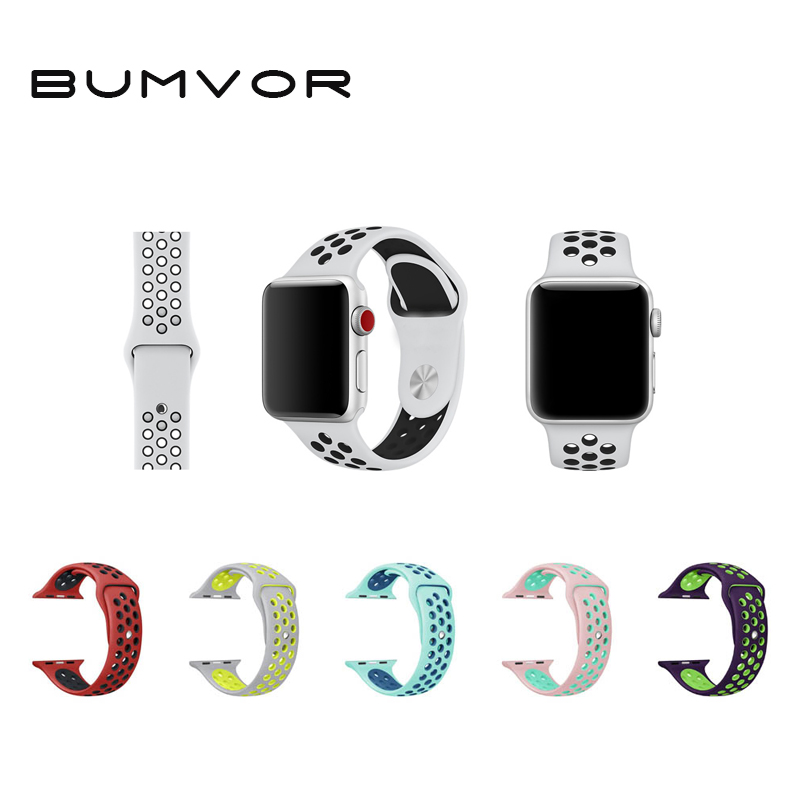 Sport Silicone Band Strap For Apple Watch Nike 44/40MM 42/38MMbracelet Wrist Band Watch Watchband For Iwatch 4/3/2/1 Accessorie