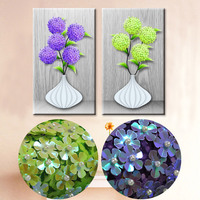 Specially Shaped Drill Embroidery Needlework Cross Stitch 5d Round Rhinestones Diamond Painting Flower Diy Cube Diamond
