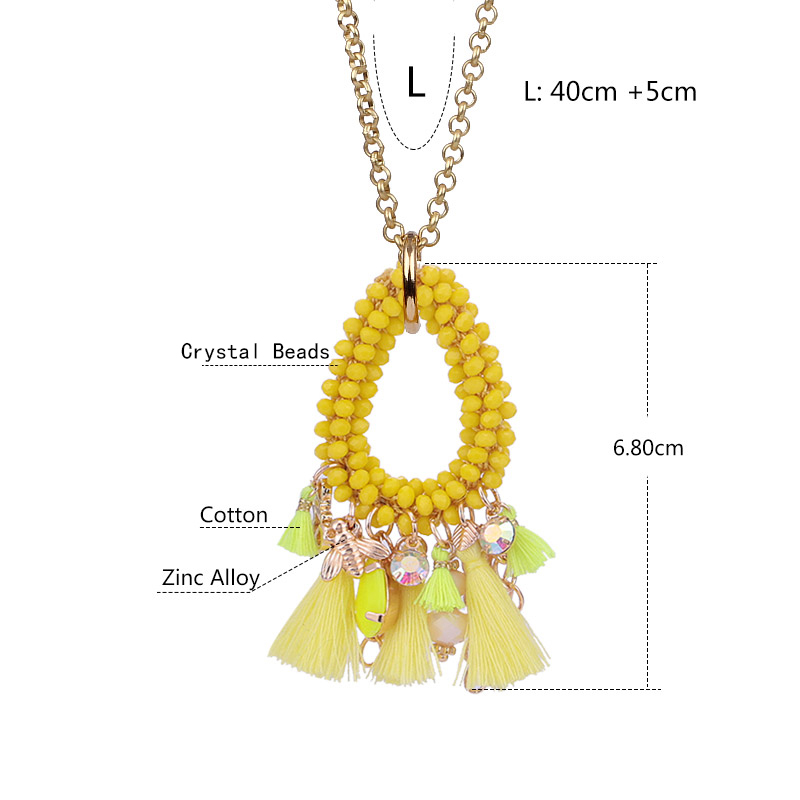Choker necklace for woman boho Pendientes woman necklace tassel necklace (17)