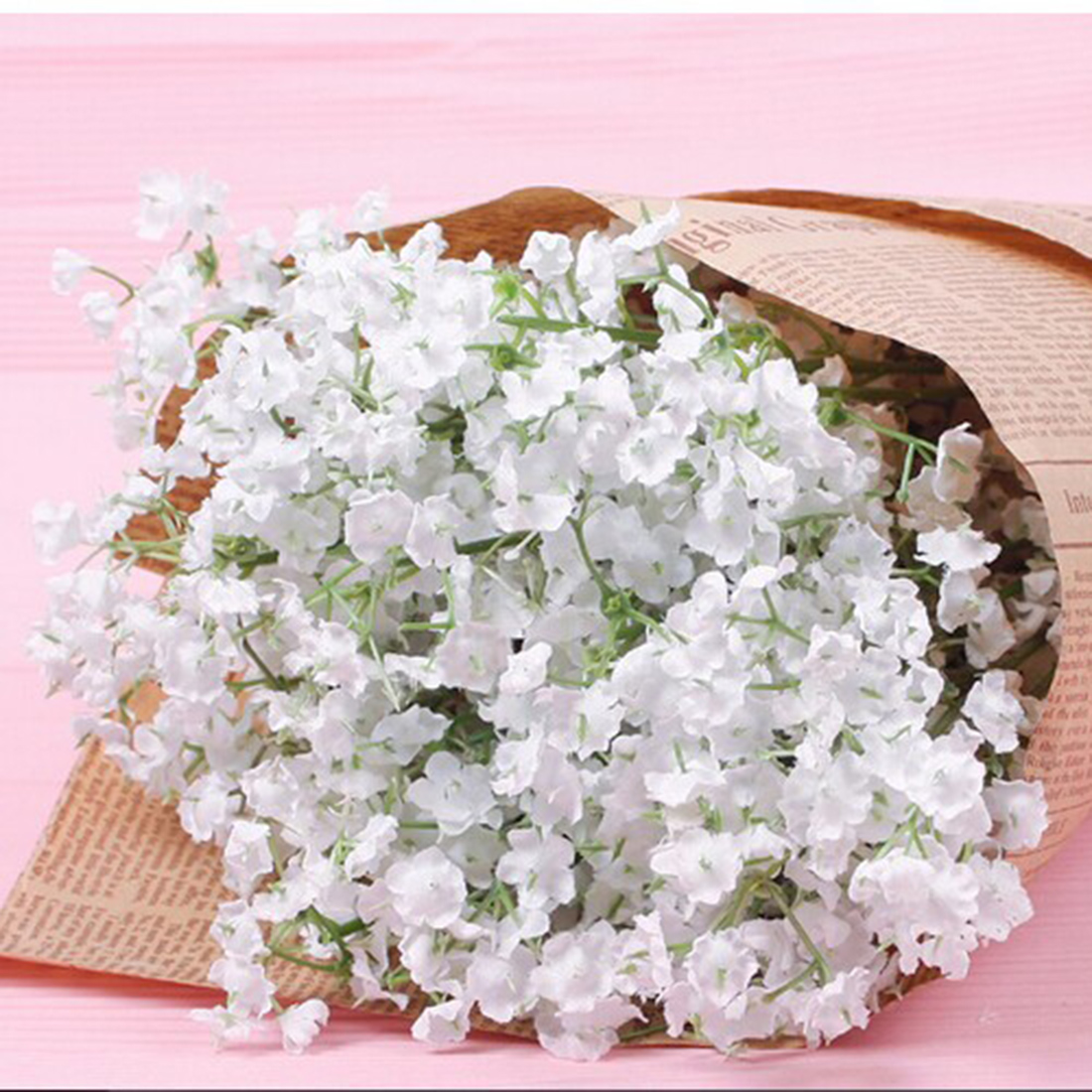 12pcs Lot Silk Flower Bouquet Wire Stem Wedding Artificial Diy Home